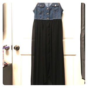 Forever 21 jean vest dress